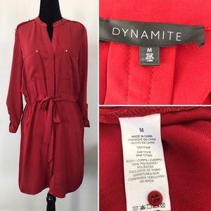 DYNAMITE SHIRT DRESS